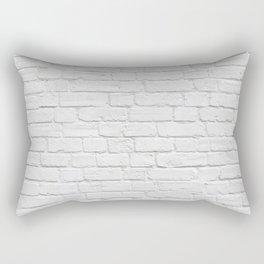 White Brick Wall Rectangular Pillow