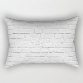White Brick Wall Rectangular Pillow
