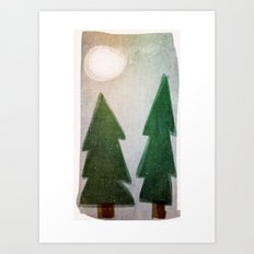 Forest nights Art Print