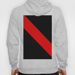 Oblique red and black Hoody