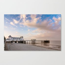 Penath Pier at sunset Canvas Print