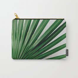Palm Leaf Detail Carry-All Pouch