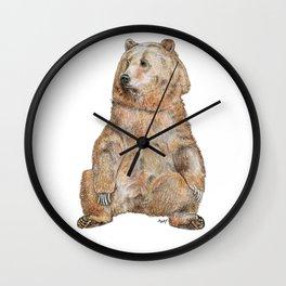 Sitting Bear Wall Clock