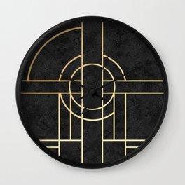 Art Deco Black Marble Wall Clock