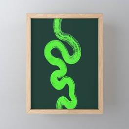 pathways green Framed Mini Art Print