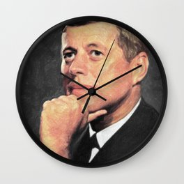 John F Kennedy Wall Clock
