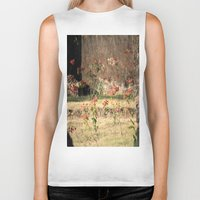 poppy Biker Tanks featuring Poppy by Four Hands Art