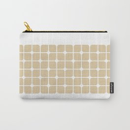 Modern Cubes - Gold + Teal Carry-All Pouch
