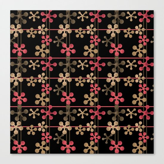Abstract pattern in black red and brown tones . Canvas Print