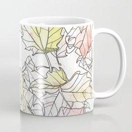 Autumn Leaves Watercolor Coffee Mug