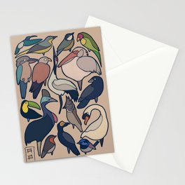 so simple birds Stationery Cards
