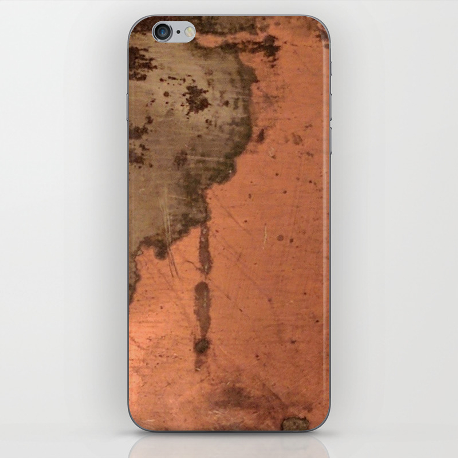 Tarnished Copper Rustic Decor Iphone Skin By Casaderustico