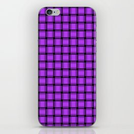 Small Light Violet Weave iPhone Skin