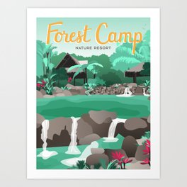 Forest Camp | Valencia Art Print
