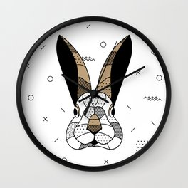Rabbit Chocolat Wall Clock