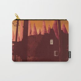 Digital painting art, castle at dawn poster Carry-All Pouch