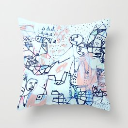 She Sang in Thanksgiving Throw Pillow