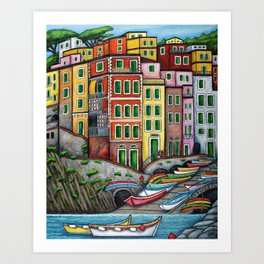 Colours of Riomaggiore Art Print