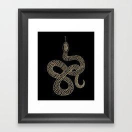 Vintage line snake Framed Art Print