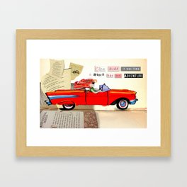 Red Riding Hood Hits the Road Framed Art Print
