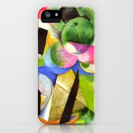 """Franz Marc """"Small Composition II also known as House with Trees) (Haus mit Bäumen) iPhone Case"""