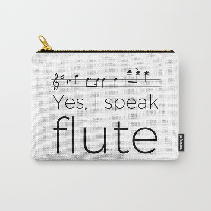 Do you speak flute? Carry-All Pouch