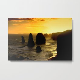 Sunset over the Twelve Apostles - Australia Metal Print