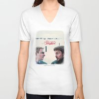 fargo V-neck T-shirts featuring Fargo tv serie by Magdalena Almero