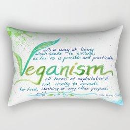 Veganism - definition Rectangular Pillow