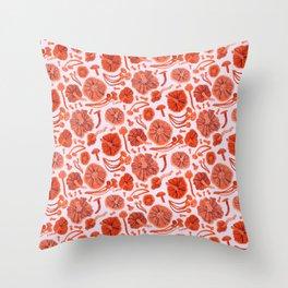 Belle Chanterelle, Orange Pop Throw Pillow