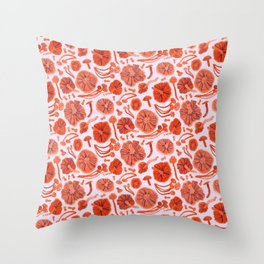 Belle Chanterelle, Orange Pop Throw Pillow