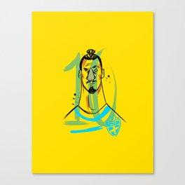 ZLATAN 10 Canvas Print