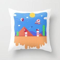 Tiny Worlds - Super Mario Bros. 2: Toad Throw Pillow