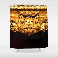 frame Shower Curtains featuring Gold Frame by tracy-Me