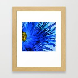 Cobalt Splash Framed Art Print