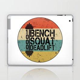 1000 Pounds Bench Squat Deadlift Powerlift Club Fitness Bodybuilder Bodybuilding Vintage Retro Laptop & iPad Skin