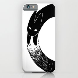 The Black Rabbit iPhone Case