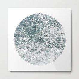 Frothy Blue Ocean Sea Waves Pacific Water Pinhole Circle Geometric Photography Art Mural Northwest Metal Print