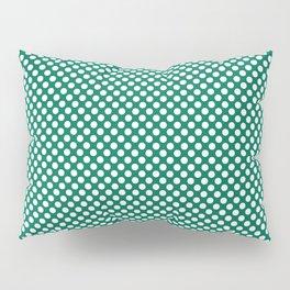 Lush Meadow and White Polka Dots Pillow Sham