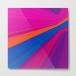 Abstract geometric pattern. Multicolored Metal Print