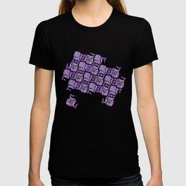 Symmetric Frog Tessellation in Purple T-shirt