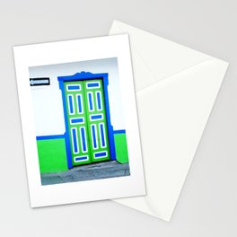 Doors - Green and Blue Stationery Cards