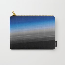 Blue Gray Smooth Ombre Carry-All Pouch