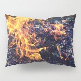 Fire on Blue Pillow Sham