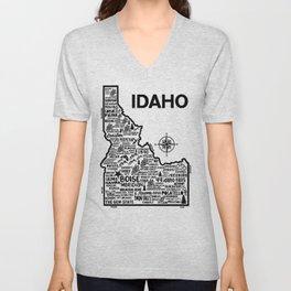 Idaho Map Unisex V-Neck