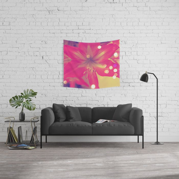Secret Garden| Pink tigress  Wall Tapestry