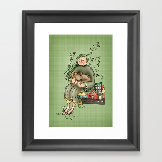 Don't worry Framed Art Print