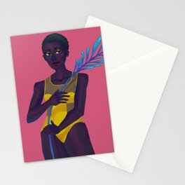 Plant Grl #2 Stationery Cards