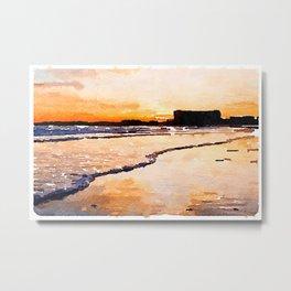 Gooch's Beach Sunset Metal Print
