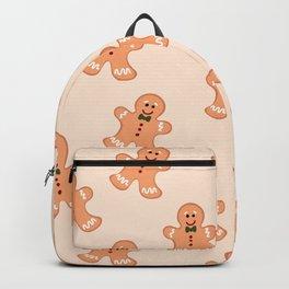 Seamless Gingerbread Man Pattern Design Backpack